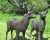 Bronze Stag and Doe small slider
