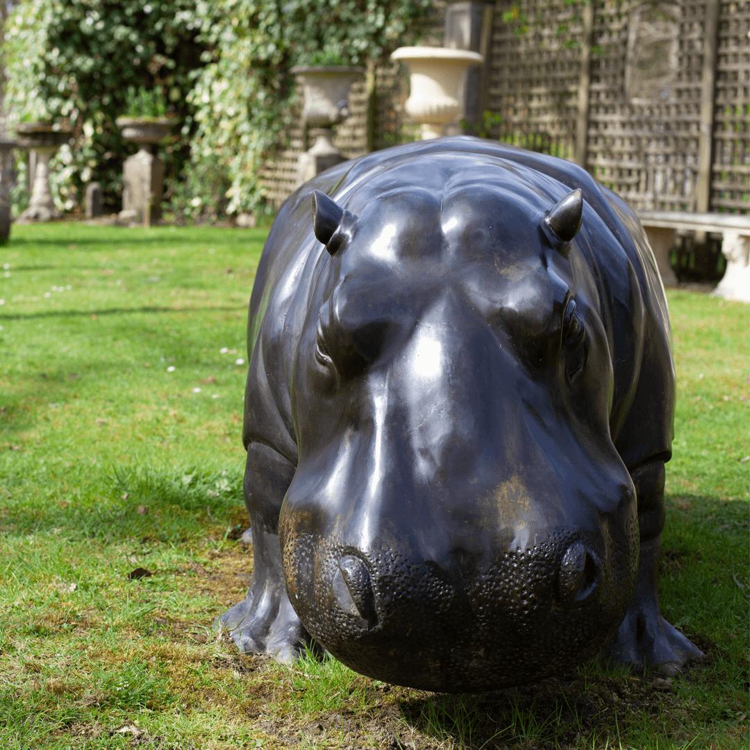 Hippo Garden Statue
