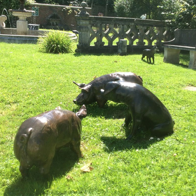 animal bronzes pigs chilstone