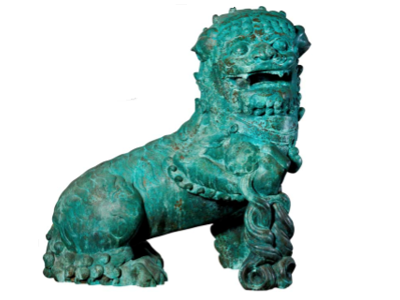 Antique Green Bronze Patina Example