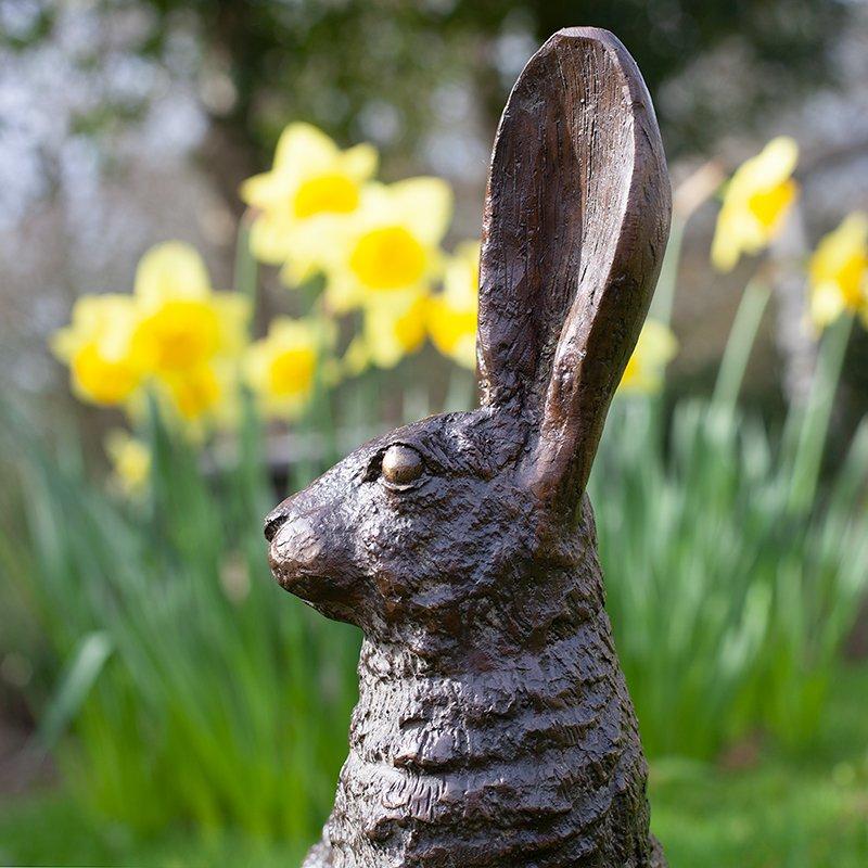 bronze rabbit head