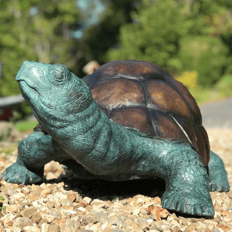 Bronze Tortoise garden ornament