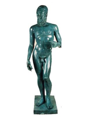 Ocean Blue Bronze Patina Example