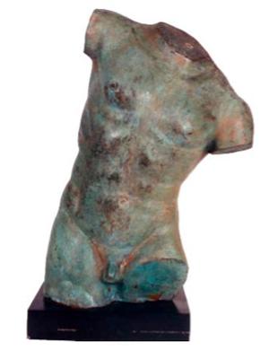 Sand Green Bronze Patina Example