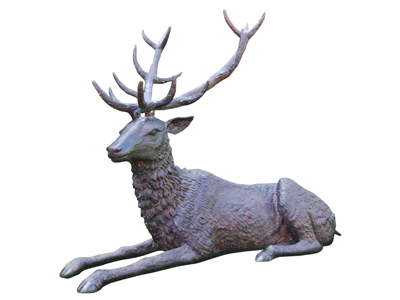 Bronze Stag Lying Down